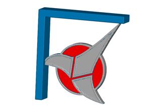 klingon comm badge shelf bracket screw tape mount badge klingon klingon shelf shelf bracket shelf mount shelf support startrek star trek