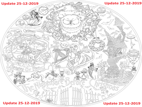 nightmare before christmas aztec aztecs aztec calendar board cnc dxf dxf file free saved svg story svg