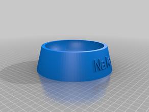 my customized fully parametric dog cat food bowl nala customized