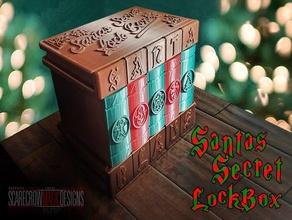 santa's secret lock box box christmas container kids puzzle puzzle box santa santa claus secret secret box secret compartment simple toy