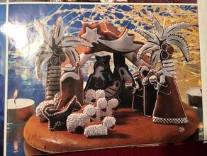 la navidad de belén hecho de pan de jengibre - cortador de galletas