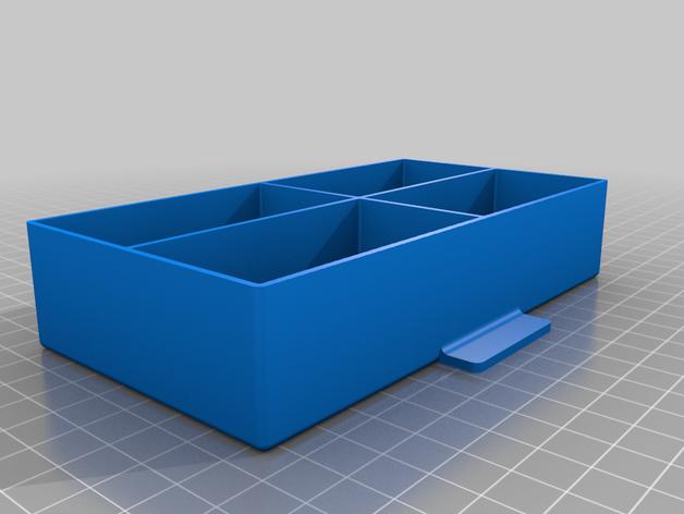 drawer box - 3x drawer cu