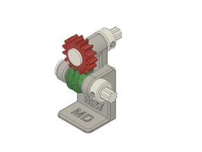 m27 model worm & worm wheel 3d printer 3d printing mechanism worm worm wheel worm gear