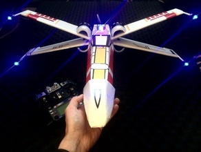 x wing rc depron t te r2d2 et canon pla aeromodelism uçak r2d2 starwars star wars xwing