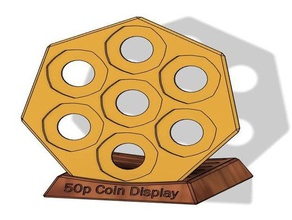 50p coin collection - display stand 50p coin coin holder collection display stand