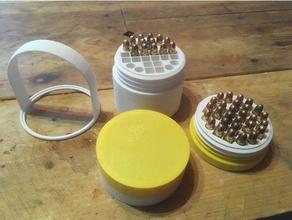 modular ammo box 223 222 223 223rem 556 Munition Munition boite box Fall modular Munition die nato ist Neuladen reloading tray remington Runde Schraube sicher Fach vis