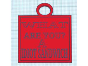 gordon ramsay you idiot sandwich keyhain