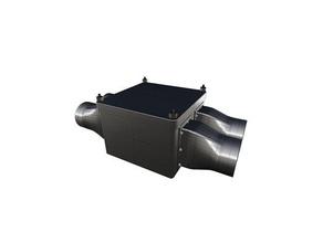 air heat exchanger - metal sheet partition wall - 2 ac unit air air heat exchanger