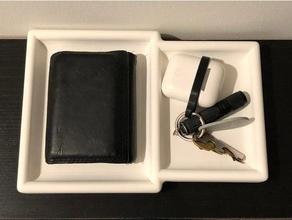 wallet & keys tray coin coins coin tray key keys key tray tray wallet wallet tray