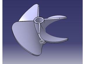 4-Blatt-prop 40mm 40mm 4blade Klinge Boot Boote Motor jet prop propeller Schraube twist