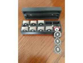 x-20 kimliği belirteci depolama tepsi kanat boardgame star wars x-wing depolama token token sahibi xwing oyun xwing Minyatürler