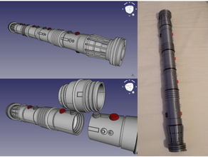 collapsing darth maul two sided lightsaber lightsaber