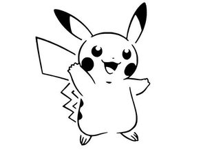 pikachu plantilla 4 el anime juego el ratón de nintendo pikachu pokemon galería de símbolos stenicl