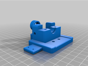 x5sa v6-mount-Teil Kühlung der x-Achse Endanschlag z sensor bowden guide e3d-v6 tronxy x5s tronxy x5sa