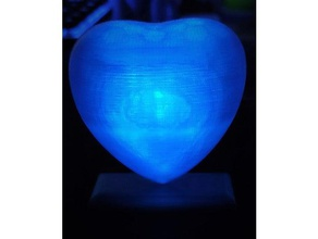 corazon led anycubic i3 mega diy heart led love tinkercad usb valentines day weeken project