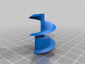 t8 asse z indicatore spirale in senso orario