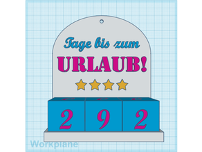 urlaubs-countdown dual color countdown counter deko dekoration dual color dual color print dual extruder dual extrusion dual material holiday holidaycountdown mmu mosaic mosaic palette mosaic palette 2 multi-color multi-material multicolor multimaterials multi material multi material print palette palette2 tage tageszhler urlaub urlaubscountdown zhler