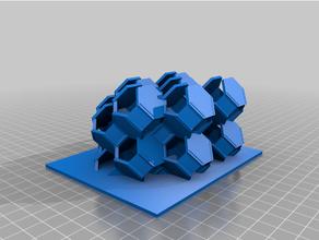 gyroid octaèdre tronqué construction gyroid hexagone l'octaèdre