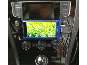 soporte smartphone vw golf 7 aux centro