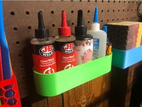 pegboard glue caddy epoxy holder garage organization glue glue caddy glue holder gluecaddy office organization organization peg board pegboard tools tool organization workshop organization