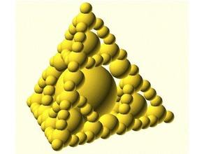 fractal ball pyramid captive spheres 3d fractal captive sphere fidget-toy fidget toy fractal fractal design pyramid