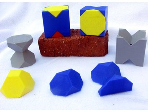 octaèdres tronqués dissections blocs openscad