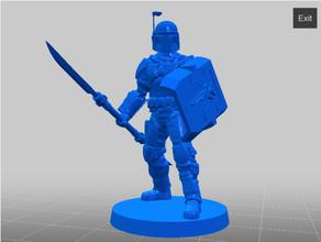 mandaloriano mercenario múltiple variantes 28 mm miniatura 28 mm ciencia ficción estrella guerras estrella guerras legión mesa rpg juego guerra