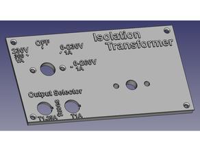 pannello frontale isolamento trasformatore
