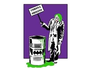 Joker 3 geschichtet Schablone Kunst Batman Batman Logo Fledermäuse Fledermaussymbol China Clown Corona Coronavirus Covid 19 dc Comic dc Comics Scherz Joker geschichtet Gift Schablone Vorlage Joker