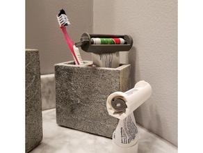 Zahnpasta Ratschen Presse Badezimmer Badezimmer Zubehör parametrisch Ratsche Solidworks Presse Schritt Zahnbürste Zahnpasta Zahnpasta Presse Tube