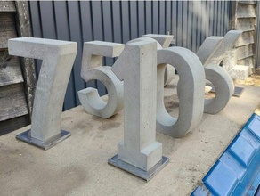 concrete numbers molds casting 0-8 casting concrete concrete cast concrete mold number numbers wedding