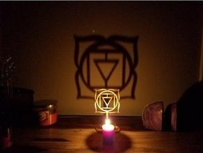 Chakra Schatten Hersteller Muladhara Ambiente Kunst Kerze Chakra Chakren Chakra Symbole Flamme Meditation om Symbol entspannen Schatten Schatten