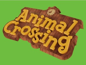animal crossing sign logo animal animal crossing cartoon game prop video game video games