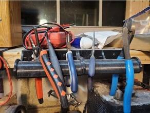 pliers rack lumber workbench organi organizer pliers pliers holder tool tool holder