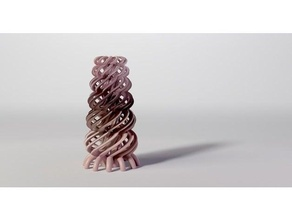 torus tower decoration math art ornament sculpture