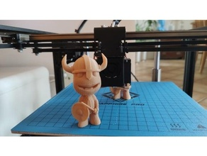 big planet sackboy - viking support free action figure art character customized cute game big planet mini miniature minis openscad playstation sackboy smile stl support free toy toys viking viking warior warior