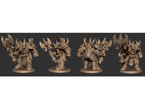 ironskarn war-grunt battleyak miniatures patreon sample armor battleyak battleyak miniatures creature dd fantasy monster orc pathfinder patreon rpg tabletop ttrpg warcraft wargaming warhammer weapon