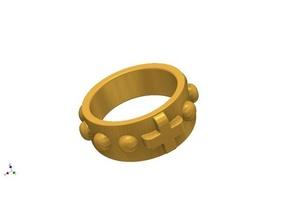rosário anel 3d impressão pulseira fff jóia anel