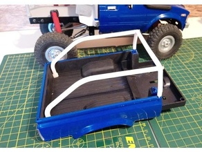 wpl c24 toyota hilux box mounted roll bar hilux rc car rc crawler roll bar roll cage toyota toyota hilux wpl wpl c24 wpl crawler