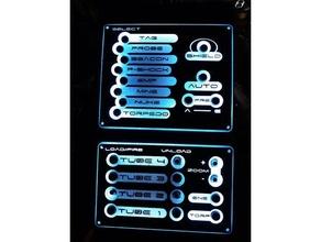 Artemis yıldız gemisi köprü simülatör kontrol panel v2 silahlar