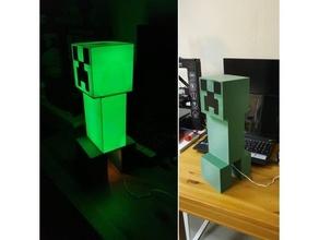 Minecraft léche botte lampe léche botte décor Jeu lampe LED Minecraft Minecraft léche botte