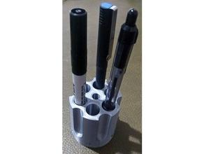 revolver cylinder pencil holder