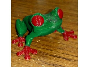 treefrog dual extruder conversion animals calibration cute dual extruder dual extrusion frog garden multimaterial multi material support supportless toy treefrog tree frog