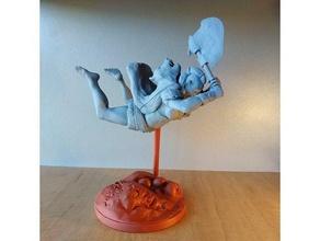 orc berserker orc statue statuette tabletop