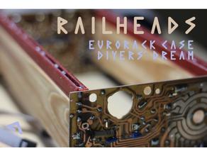 railheads - 3d printed rails wood eurorack cases eurorack eurorack rail eurorack skiff