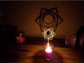 Chakra Schatten Hersteller Svadhishthana Ambiente Kunst Kerze Chakra Chakra Symbole Dekor Dekoration Flamme Meditation om Symbol entspannen Schatten Schatten