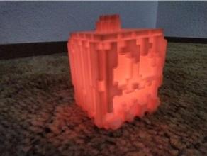 Minecraft citrouille thé lumière Halloween citrouille d'Halloween Minecraft citrouille bougie chauffe plat