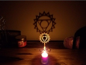 Chakra Schatten Hersteller Vishuddha Ambiente Umgebungs Kunst Kerze Chakra Chakra Symbole Dekor Dekoration Flamme Flammen Meditation om Symbol entspannen Entspannung Schatten Schatten