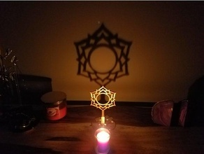 Chakra Schatten Hersteller Sahasrara Ambiente Umgebungs Kunst Kerze Chakra Chakra Symbole Dekor Dekoration Flamme Flammen Meditation om Symbol entspannen Schatten Schatten