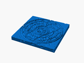 castillo piso 2x2 magia circulo áspero forja 20 compatible mazmorras dragones forja pionero mesa